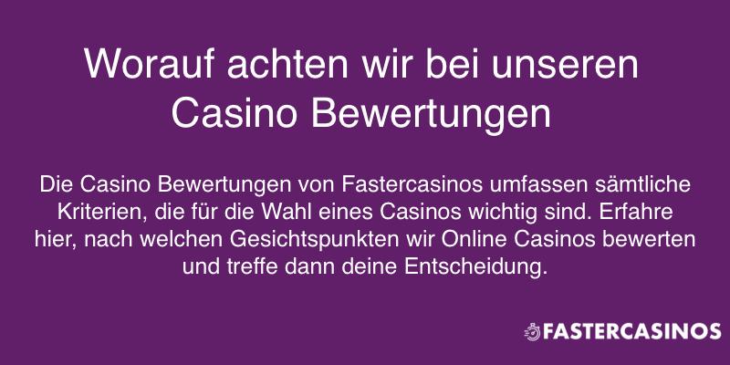 Casino Bewertungen und die Kriterien