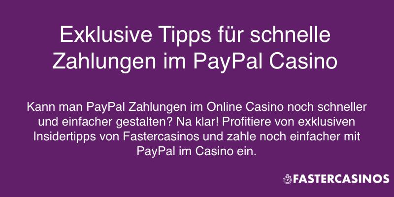 Besondere Tipps für Casino mit PayPal