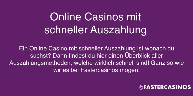 Online Casino schnelle Auszahlung und wie diese funktioniert.