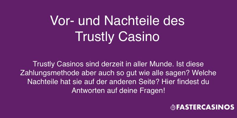 Trustly Casinos und ihre Vor- und Nachteile